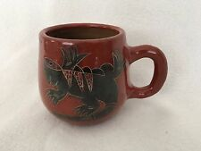 Native American Red Clay Gecko Lizard Hand Thrown Coffee Cup Mug