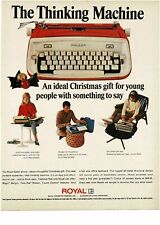 1965 ROYAL Safari Typewriter Orange White Vintage Print Ad