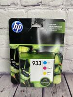 Genuine HP 933 Magenta Cyan Yellow Ink Cartridge New Sealed Genuine Exp 5/21