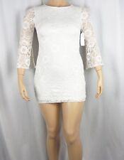 NWT Robbie Bee Signature Lace 3/4 Bell-Sleeve Sheath Dress Ivory Size Petite L