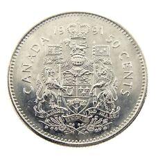 1991 Canada 50 Fifty Cents Half Dollar Canadian Brilliant Uncirculated Coin F460