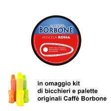 90 capsule caffè Borbone Compatibili Nescafé Dolce Gusto Miscela ROSSA + omaggio