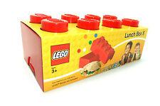Lego fiambrera 8 encajes rojo