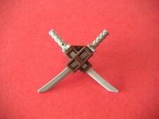 Lego Fourreau dorsal marron +2 sabres Dark Brown Scabbard + katanas NEW REF88290