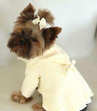 M New Vanilla MilkshakeTerry Cloth Hooded Dog Bathrobe clothes Medium PC Dog®