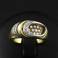 Designer Brillant Ring ca. 0,50 ct.   6,8g 750/- Gelb-/Weißgold