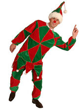 Mens Elf Costume Deluxe Christmas Xmas Outfit Top Trousers & Hat 42-44 NEW