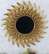 Miroir Soleil Miroir mural Gold cadre ancien miroir de salle Baroque 47 cm ressort Sun