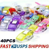 40PCS Plastic Sewing Clips Clamp for Craft Quilting Sewing Knitting Crochet USA