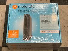 MOTOROLA MG7550 16x4 Cable Modem Plus AC1900 Dual Band WiFi Gigabit Router