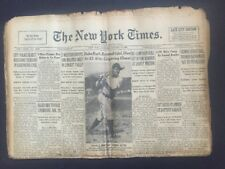 Babe Ruth Dies New York Times newspaper August 17 1948 Rare ORIGINAL incredible
