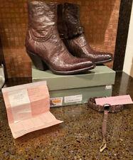 Fauzian Jeunesse Western Boots 2122 Brown 39.5 Box, Receipt Barely Worn