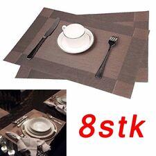 8er Platzset Platzdeckchen Rutschfest Abwaschbar Tischmatten Hitzebeständig