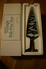 "Department 56 Village Pole Pine Tree #55298 Large 10.5"" Porcelain Accessory"