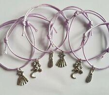 6 x Rapunzel Tangled Party Themed Friendship Bracelets Kids Birthday Bag Favours