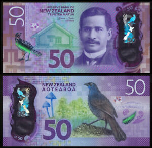 New Zealand 2016 P-194 50 Dollar Polymer UNC