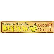 "Indoor/Outdoor Farm Fresh Locally Grown Bananas Metal Mini Street Sign 4"" x 18"""