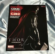 2011 C2E2 CONVENTION GUIDE~THOR/HEMSWORTH PHOTO COVER~SIGNED BY DAVID MACK~