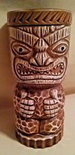 TIKI TUMBLER ORCHIDS OF HAWAII JAPAN R-3 THUMBS UP GREEN JEWEL EYES BISQUE CUP.