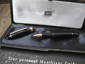 MONTBLANC MEISTERSTUCK LEGRAND 166 GOLD BLACK DOCUMENT MARKER FULL SET