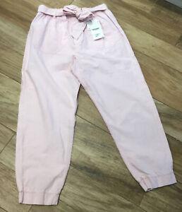 ZARA Pale Pink Elasticated Waist Trousers Size L