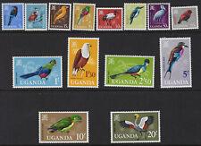 UGANDA :1965 Birds definitive set 5c-20/- SG113-26 MNH