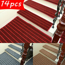14Pcs Stair Tread Carpet Mats Step Staircase Non Slip Mat Protection