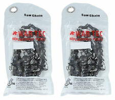 "25"" Pack de 2 cadena motosierra 3/8"" 0.063 OR 1.6mm 84 eslabones motrices Apto"
