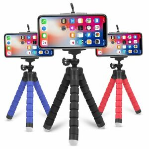 Mini Flexible Tripod Stand Phone Holder Selfie Photo iPhone Samsung GoPro Camera