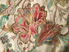 RALPH LAUREN PAISLEY DUVET COVER, KING SIZE DUAL SIDED PRETTY SHADES, BLUE,ROSE,