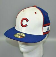 Chicago Cubs New Era 59FIFTY MLB Vertical Stripes Fitted Cap Hat - Size: 7 1/8