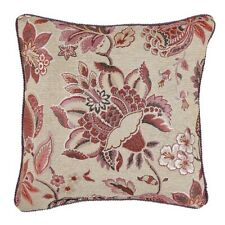 "Croscill Lauryn Throw Pillow Floral Jacobean Jacquard 18""x18"" Pillow New"