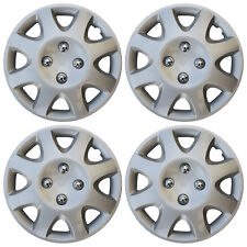 Hub Cap Abs Silver 14 Inch Rim Wheel Skin Cover Center 4 Pc Set Caps Covers Fits Plymouth Breeze