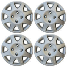 "Hub Cap ABS Silver 14"" Inch Rim Wheel Skin Cover Center 4 pc Set Caps Covers"