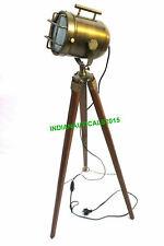 Royal Antique Brass Nautical Floor Lamp Brown Tripod Spot Light Stand