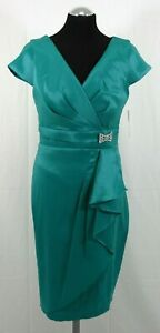 elegantes Abendkleid Cocktailkleid von Maria Bonita in Grün VK 120€ Gr 40 - NEU