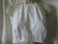 New ASOS High Neck White Lace Swim Top (or Crop Top) Size 14 US