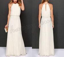Womens Chiffon Long Formal Wedding Evening Ball Gown Party Prom Bridesmaid Dress