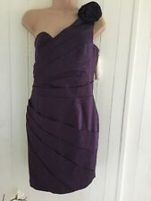 """LIPSY """" PURPLE EVENING DRESS NEW WITH TAGS ,SIZE. 14"""