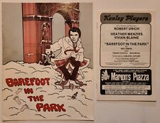 Barefoot In The Park Kenley Players Program, Advertisement 1981