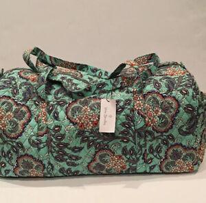 NEW Vera Bradley Large Traveler Duffel Bag Fan Flowers Pattern Foldable