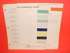 1955 STUDEBAKER PRESIDENT SPEEDSTER COMMANDER CHAMPION CONESTOGA PAINT CHIPS 55