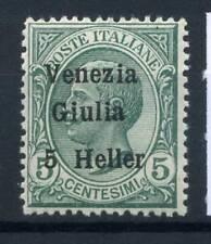 Venezia Giulia 1918 Sass. 21 Nuovo ** 100% Sovrastampato, 5 c,