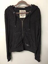 BNWOT Seafolly Women's Dark Grey Zip Up Terry Towelling Hoodie/Jacket Size M