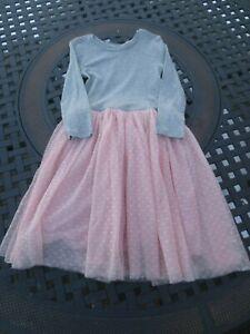 Gap Kids ~ Girls Gray and Pink Mesh Dress ~ Size 10