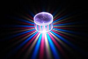 Set of 2 LiteRays LED Light Up Projection LitePod Drink Accessory- Stripes