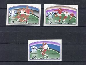 s5315) KOREA 1978 MNH** World Cup Football-Campionato Mondiale Calcio 3v IMPERF
