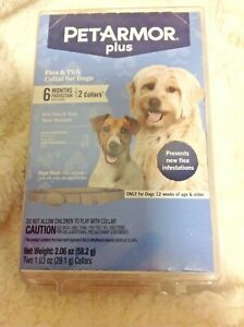 Genuine Pet Armor Plus Flea & Tick Collar for Dogs 2 Collars *FAST FREE SHIPPNG*