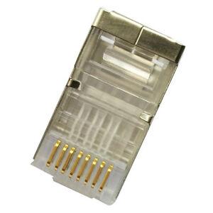 100x CAT6 Shielded RJ45 Pass Through Modular Plug Cable Connector End 8P8C AU
