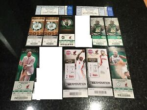 11 Lebron James Miami Heat Full, Unused, Tickets Lot Playoffs vs Boston Celtics